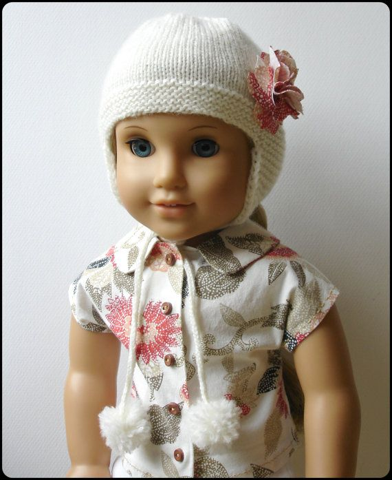 Marigold Ear Flap Hat - PDF Knitting Pattern For 18\