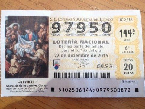 Sorteo De Un Décimo De Navidad Sorteo Lotería Nacional Lotería
