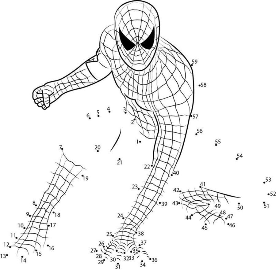 Spider Man Dot To Dot Printables Connect The Dots Dots
