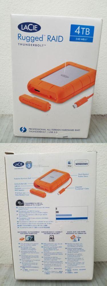 Details About Lacie Rugged Thunderbolt Usb 3 0 4tb Open Box Drive Storage Usb Thunderbolt