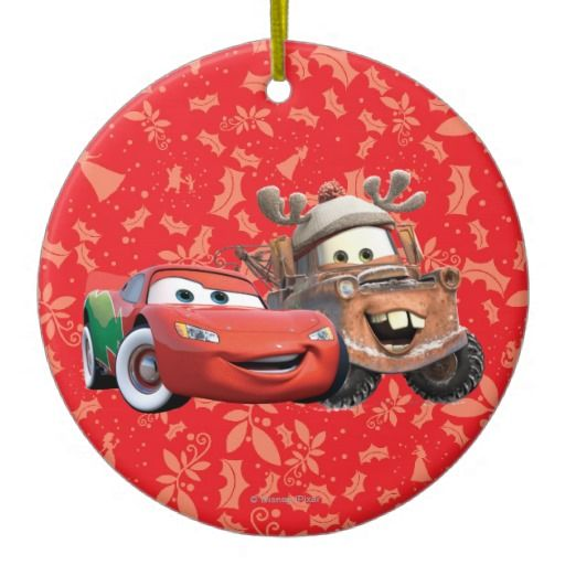Lightning Mcqueen & Mater Christmas Ornament | Home decor ...