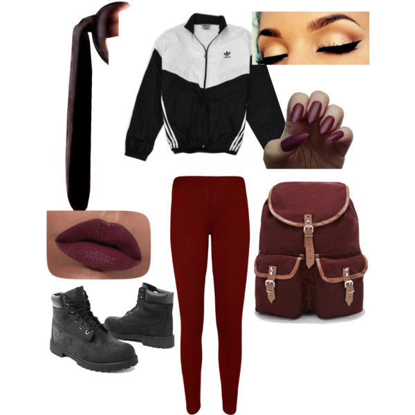 Untitled #18 by flawless0910 on Polyvore featuring polyvore fashion style WearAll Timberland Urban Renewal LORAC adidas