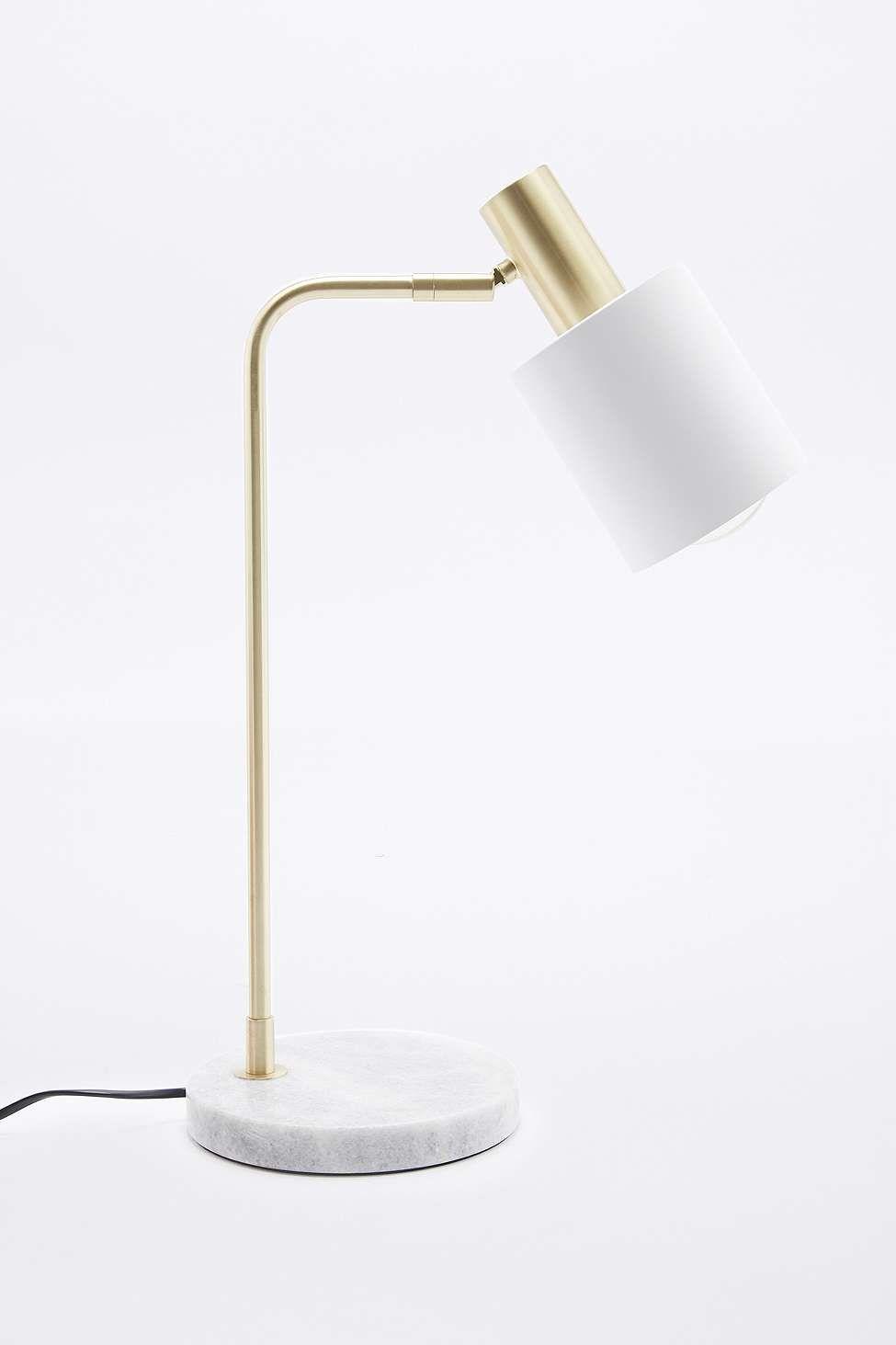 Lampe De Bureau En Marbre Et Blanche Lampes De Table Lampe De Bureau Lampe De Table Moderne