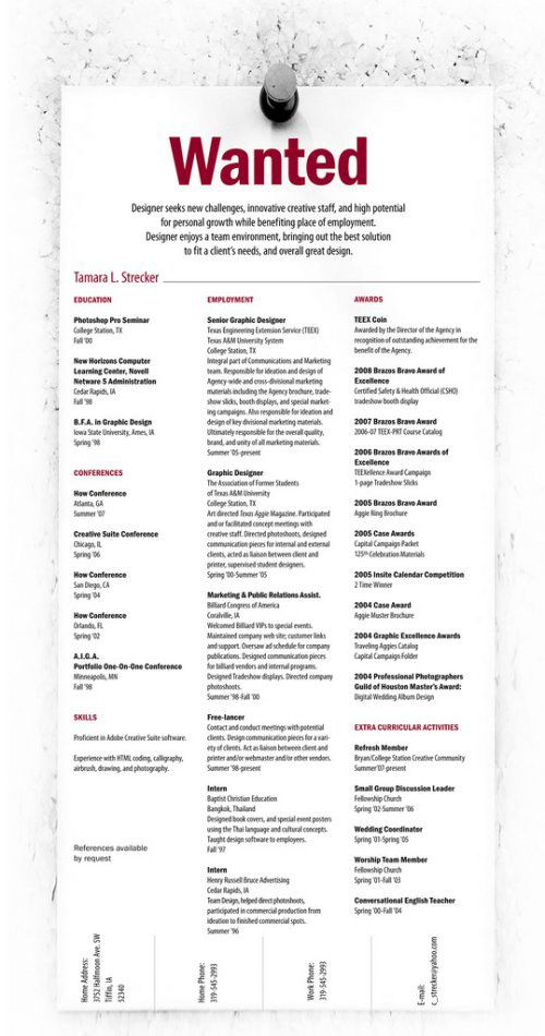 45 Creative Resumes to Seize Attention Pinterest Creative, Cv