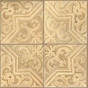 Celtic Cedar Moorish Star Hand Painted Ceramic Tile X Each - 12x12 painted ceramic tile