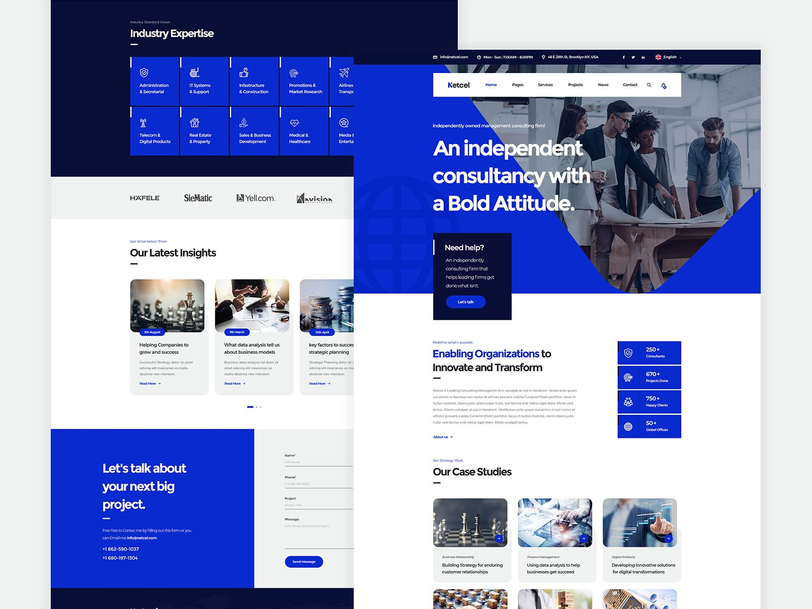 Netcel - Business Consulting and Finance Theme Homepage v4 ...