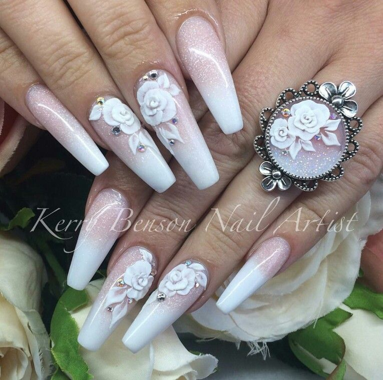 vintage inspired pink white nails the ring is gorgeous too m ng xinh pinterest naglar. Black Bedroom Furniture Sets. Home Design Ideas