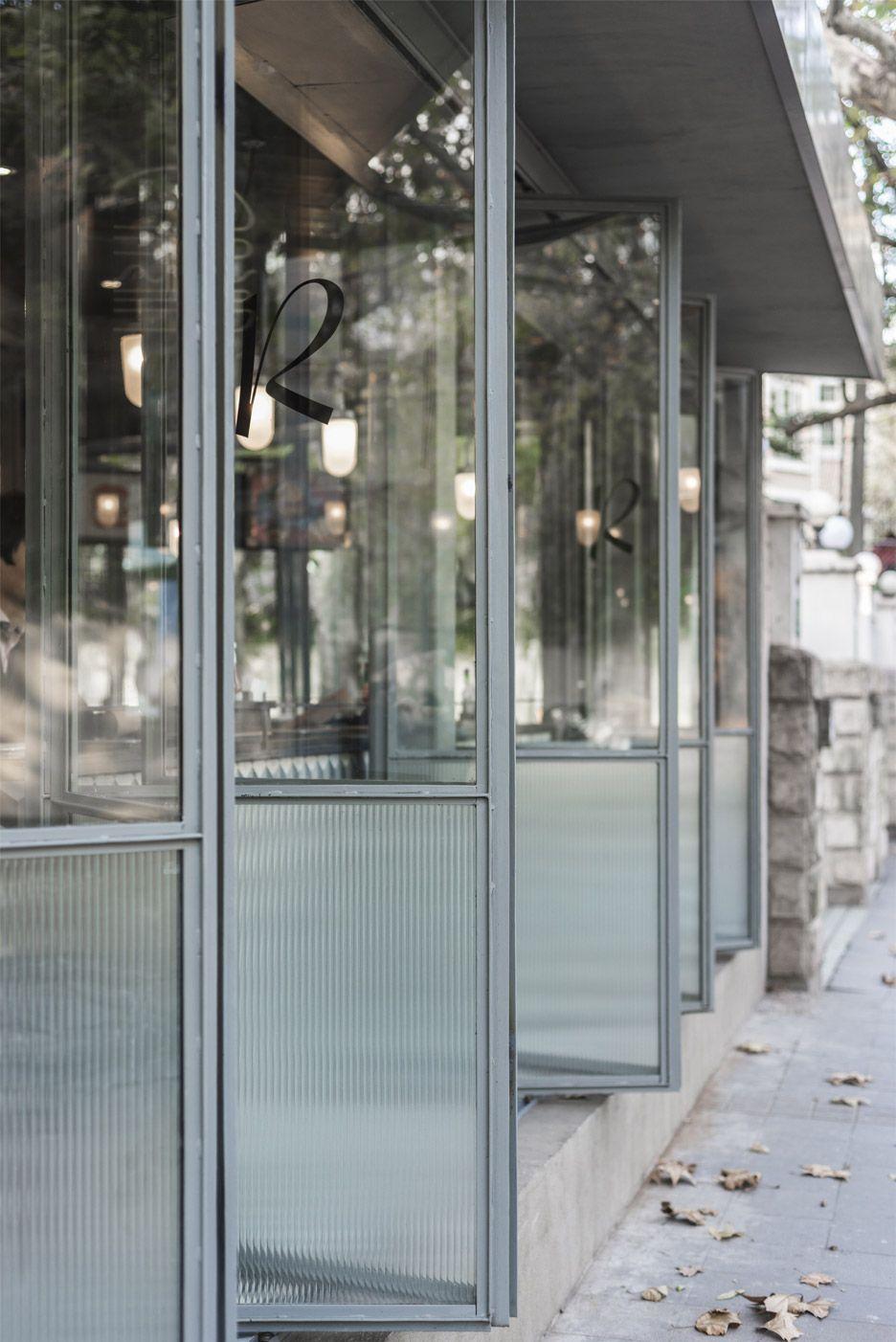 folding glass doors @ shanghai burger restaurant by Neri&Hu   via Instant Classics in Design ~ Cityhaüs Design