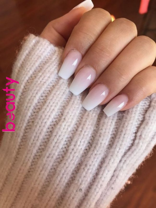 32 Natural Cute Light Pink Nails Design For Lady In Fall And Winter Ombre Acrylic Nails Cute Acrylic Nails Ombre Nail Designs