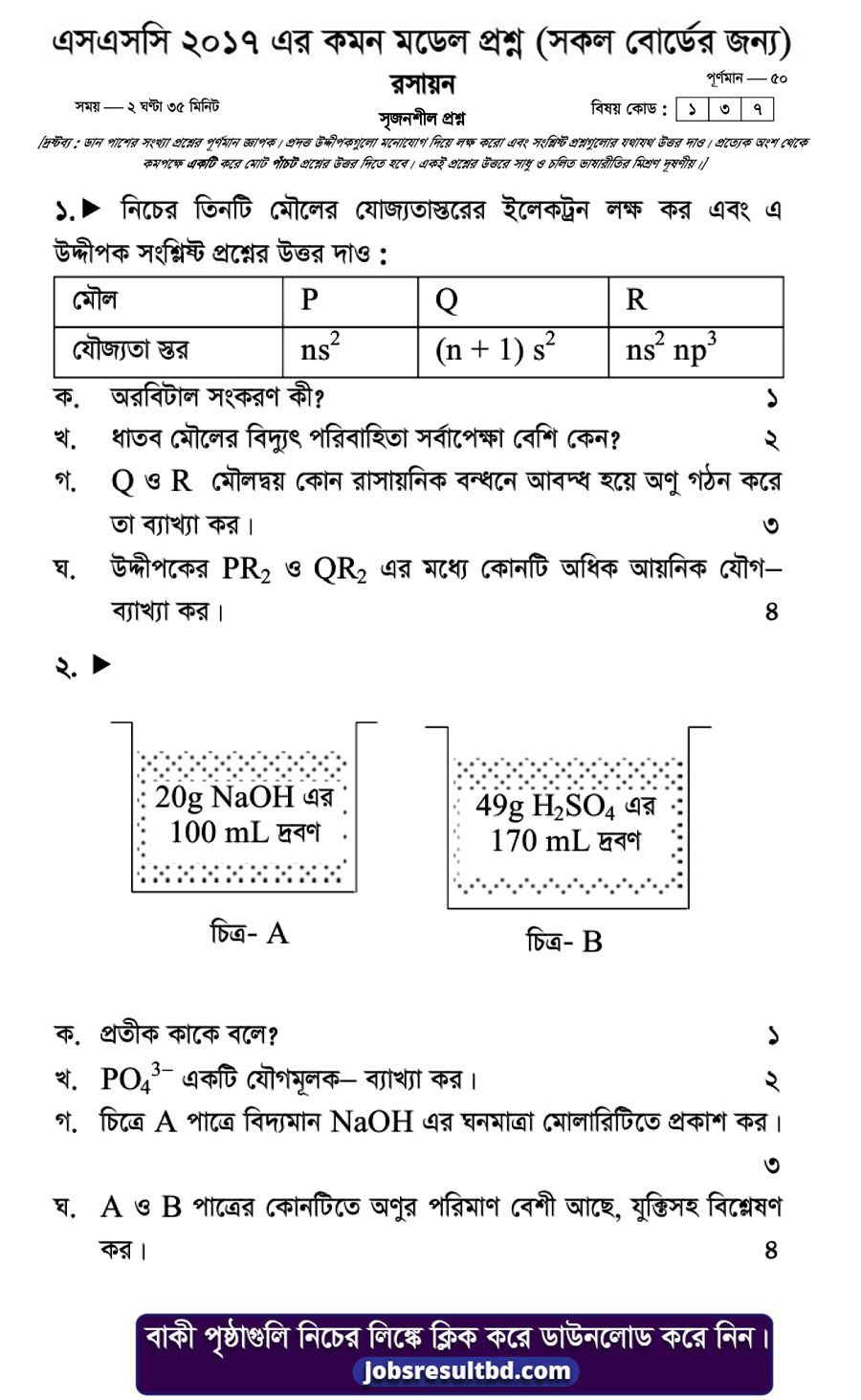 Chemistry Ssc Exam Suggestion And Question Patterns 2017 1 This