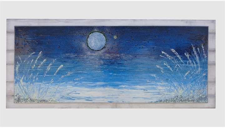 Luna sul mare con stella | Vendita Quadri Online | Quadri moderni ...