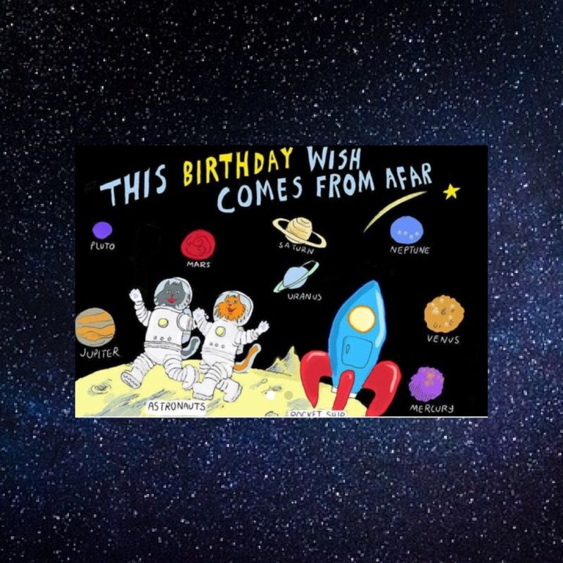 All Children Love Outer Space Engage Them With A Fun Birthday Card