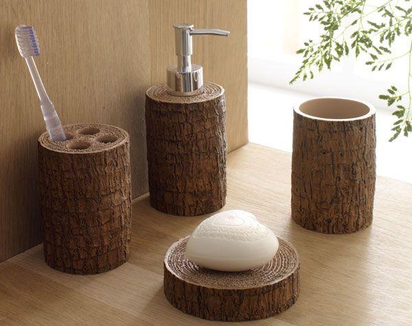 accessoires de salle de bains esprit nature becquet d co pinterest accessoires de salle. Black Bedroom Furniture Sets. Home Design Ideas