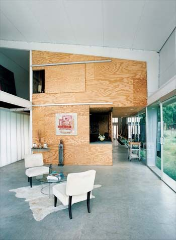 economical use of plywood wall surfacing | Room designs | Pinterest ...