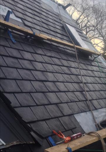 Heritage Slate In Black Eurolite Slate Blake Roof Roofing Roofingmaterial Rubber Lifetimewarranty Authentic Roofing Rubber Roofing Roofing Materials