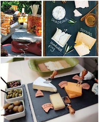 Cheese, Glorious Cheese! {And Wine} Party:- Good Suggestions for Wine & Cheese Pairings:  Salty Gorgonzola with Sweet Reisling  Brie with a California Chardonay  Goat Cheese (Chevre) with Savignon Blanc  Edam or Havarti with Pinot Noir  Gouda with Merlot or Reisling