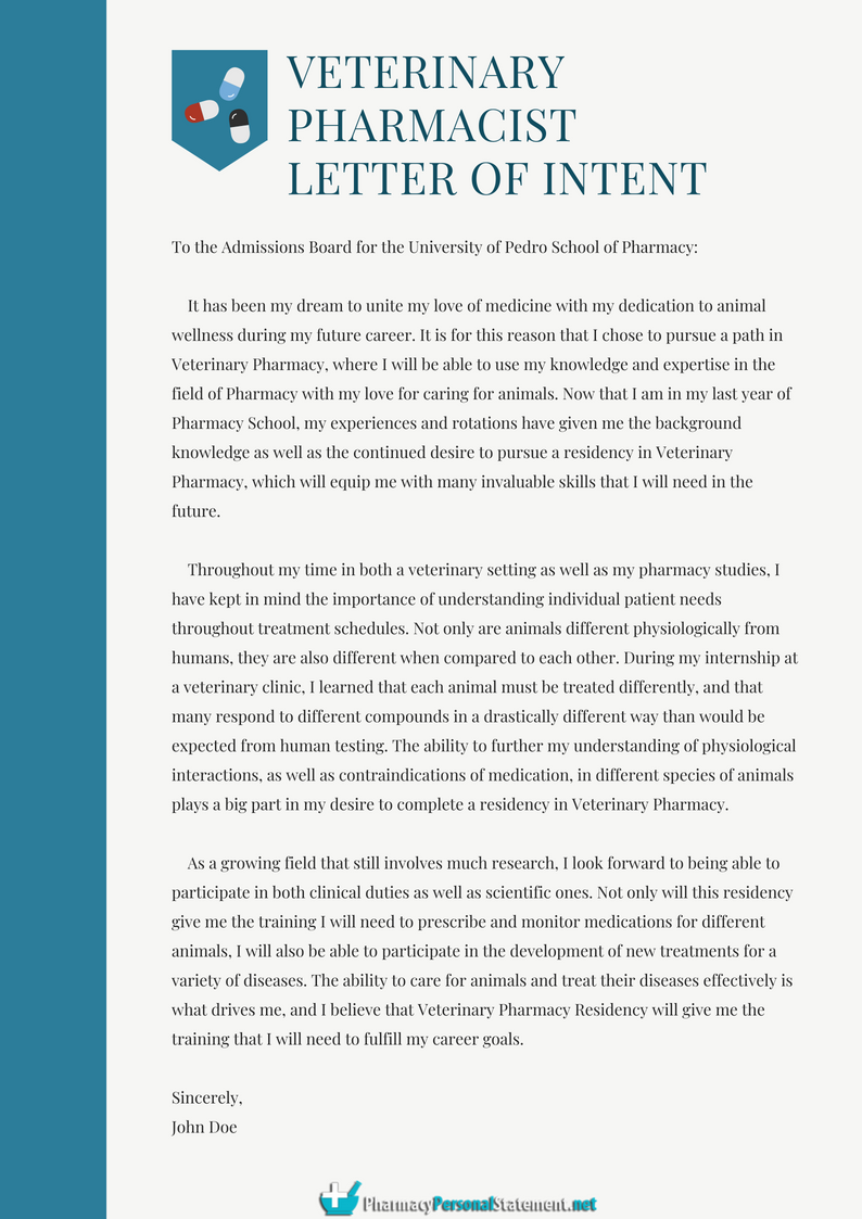 How To Write Veterinary Pharmacist Letter Of Intent Http Www Pharmacypersonalstatement Net Hire A Writer For Personal Statement