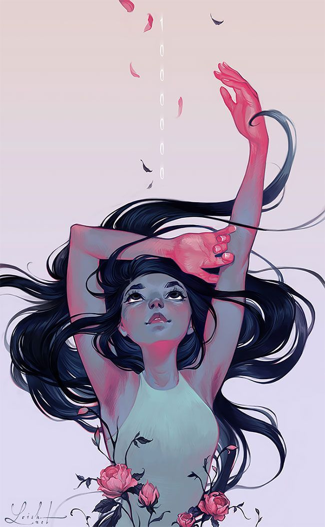 Beautiful Feminine Illustrations By Lois Van Baarle