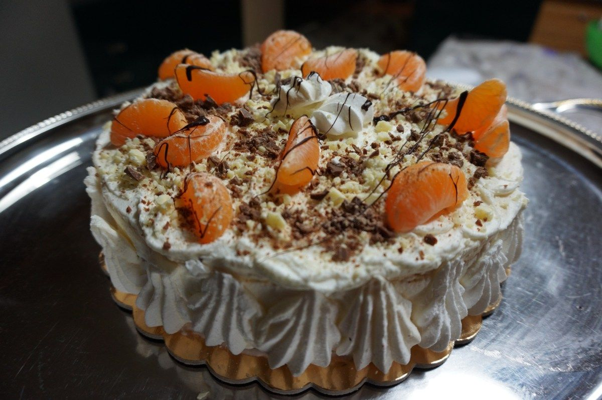 Da meringhe a meringata cioccolato e mandarini