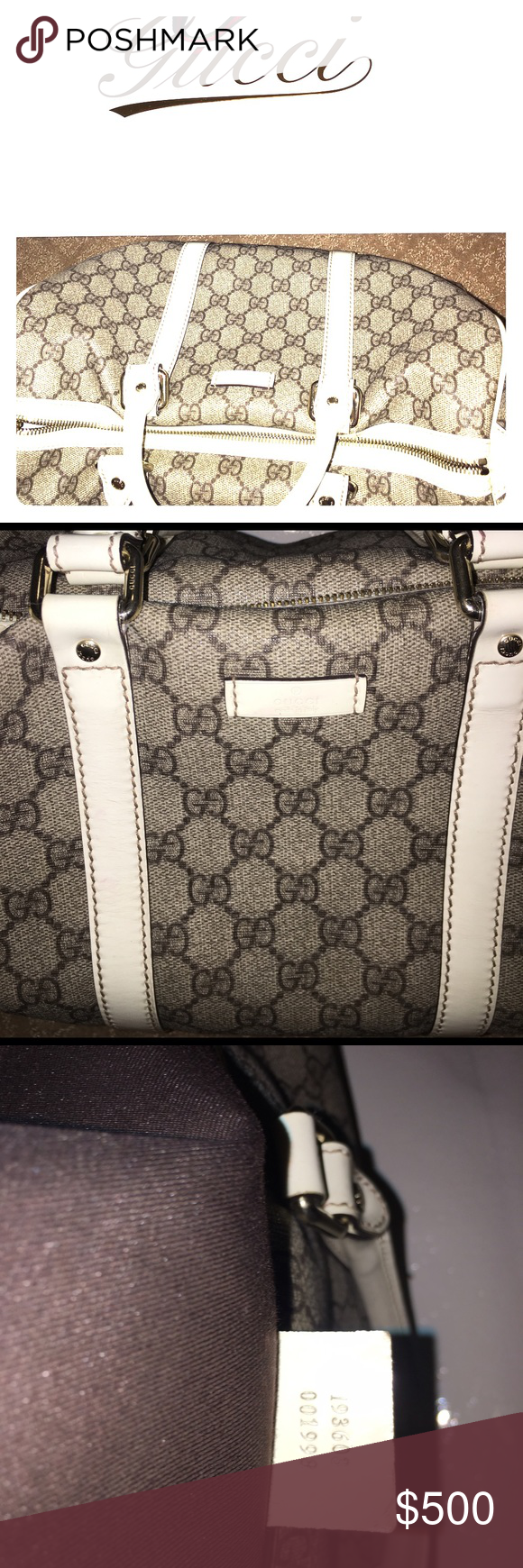 """Authentic Vintage Boston Handbag. Still has tag on it from store. I bought it for """"her"""" as Christmas gift. The grinch showed up, no longer together. I paid 545 plus tax. Willing to negotiate a price close to that. Thanks for looking! Gucci Bags Shoulder Bags"""