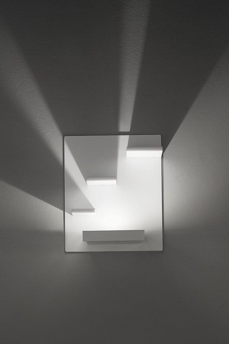 DOMINO: Wall lamp supplied with dimmabe led with direct power supply ...