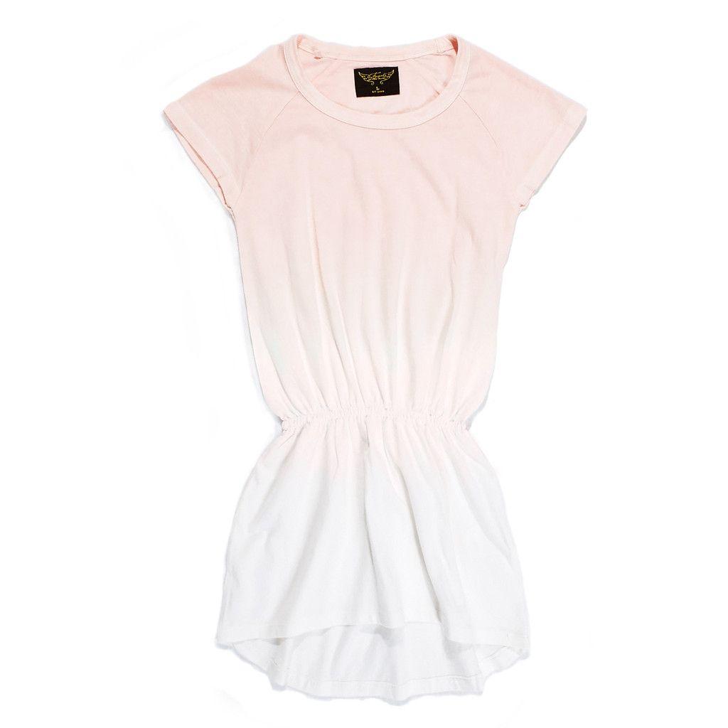 DAYTONA Summer Pink Dip Bleach - Jersey Sleeveless Dress #dresses-skirts-shorts #girls #solde-ete #ss15 #tva_included