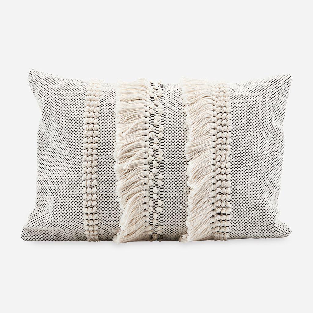 Monochrome tassel cushion this monochrome tassel cushion will make