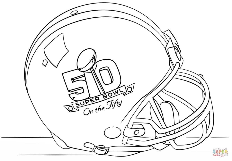 Super Bowl 2016 Helmet Coloring Page In 2020 Super Coloring Pages Coloring Pages New Year Coloring Pages