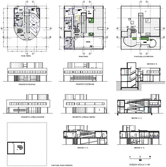 Villa Savoye Drawing Le Corbusier Architecture Engineering