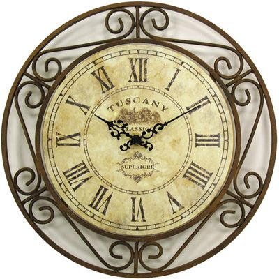 Wrought Iron Tuscan Wall Clock For My Kitchen