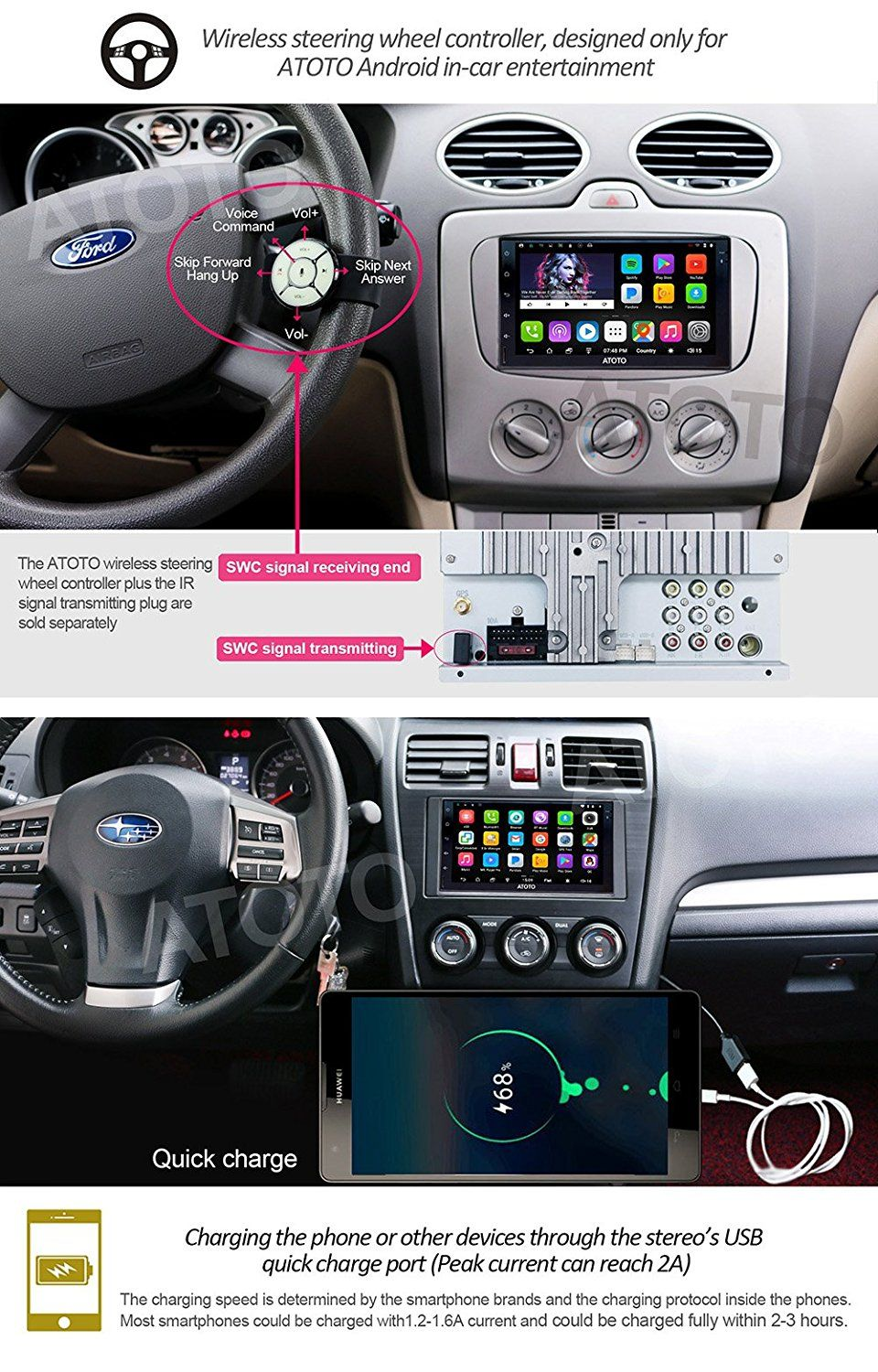 Amazon com: [NEW] ATOTO A6 2DIN Android Car Navigation