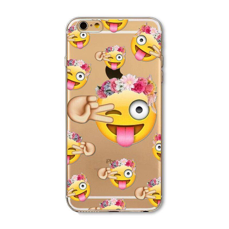 Cute Cat Case Cover For Iphone 6 6s Flamingos Unicorn Kardashian Emoji Transparent Silicone Pho Silicone Iphone Cases Emoji Phone Cases Iphone Transparent Case
