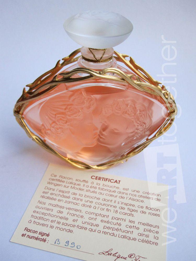 Lalique Flacon Cristal Parfum Femme Le Baiser édition Limitée Et