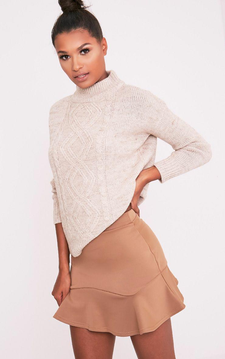 59bda33c52 Verity Camel Flippy Hem Mini Skirt | el | Mini skirts, Skirts, Fashion