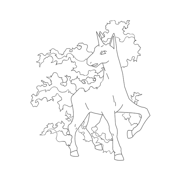 Free Rapidash Lineart By Behindclosedeyes00 On Deviantart Horse Coloring Pages Pokemon Coloring Pages Pokemon Coloring