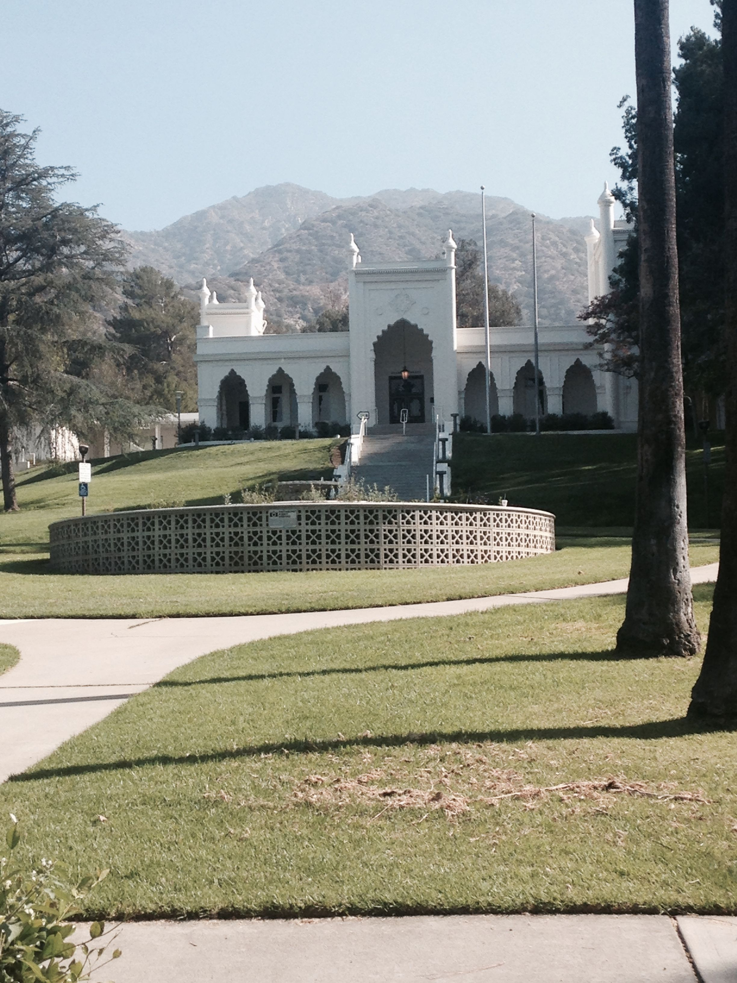 The Brand Library and Art Center, Glendale, high in the hills.