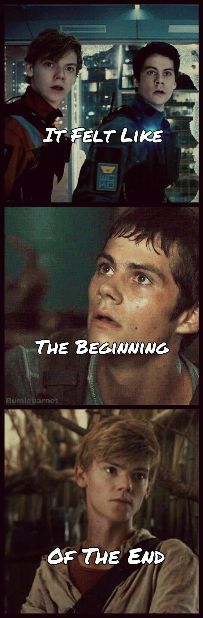 It Felt Like The Beginning Of The End   Maze Runner Edit   Maze ...