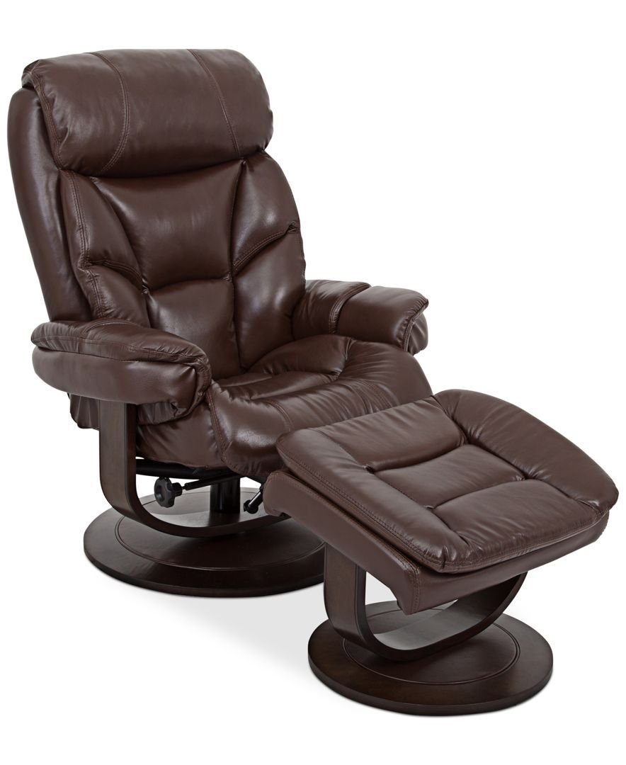 Leather Recliner Chair With Ottoman Aby Leather With Vinyl Sides Back Recliner Chair Ottoman