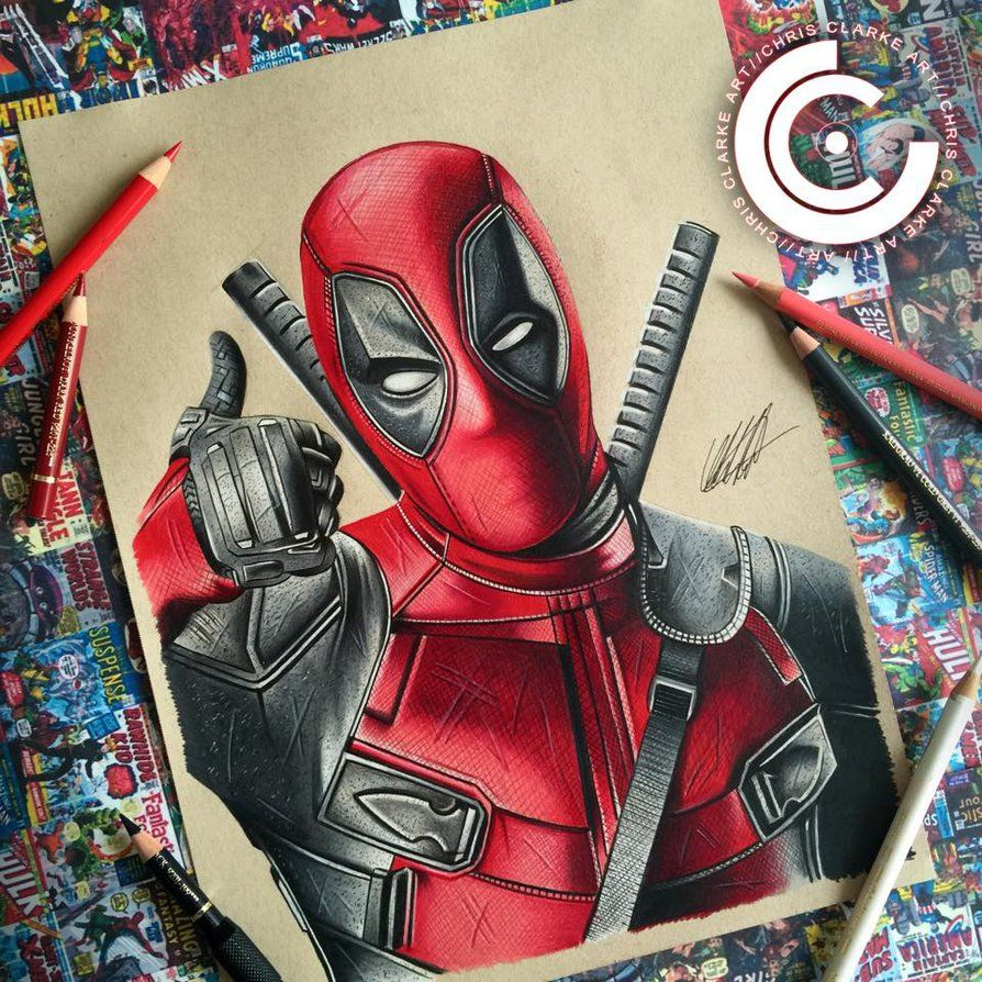 Realistic Sketch Deadpool Drawing Images