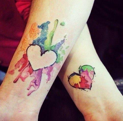 partner tattoo colorful work of art tattoo tattoo. Black Bedroom Furniture Sets. Home Design Ideas