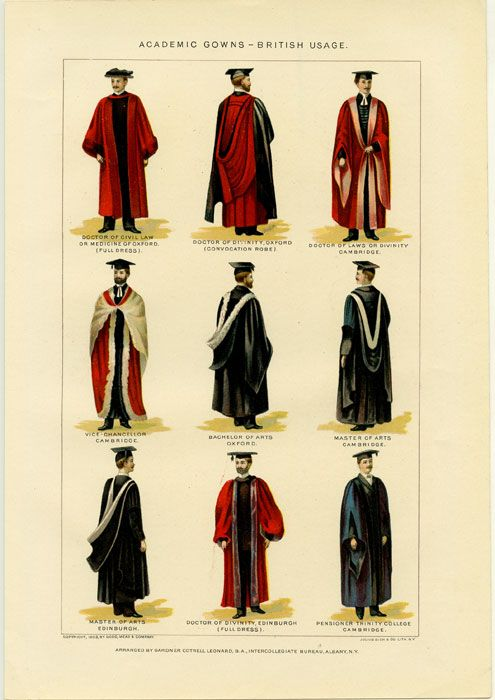 Academic Gowns - British Usage | ENGLAND - UNIVERSITIES This prin ...