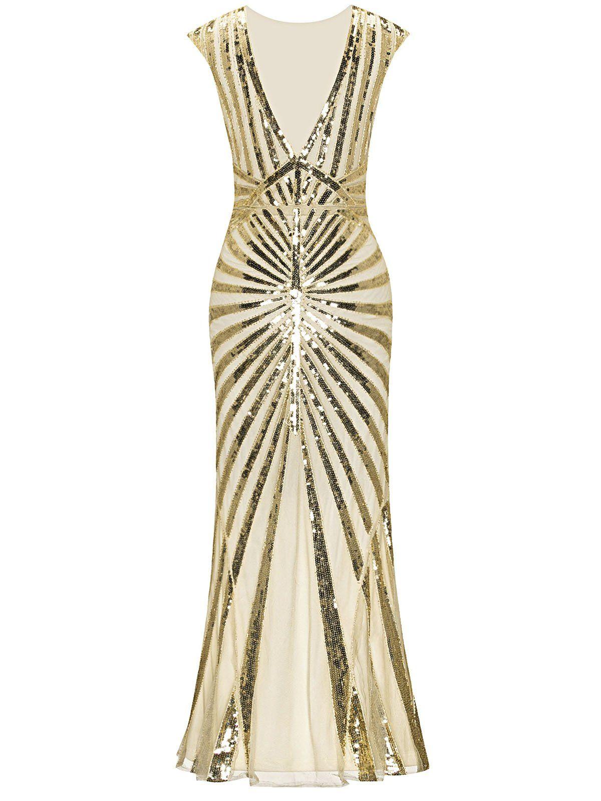 S sequin art deco maxi dress my style pinterest vintage