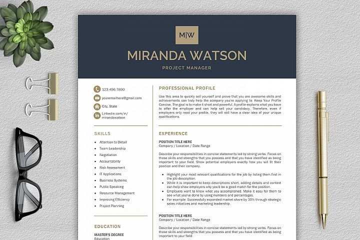 Resume Template For Word Cv Template Professional Resume 43246 Resume Templates Design Bundles Resume Template Professional Resume Template Word Resume Design Template