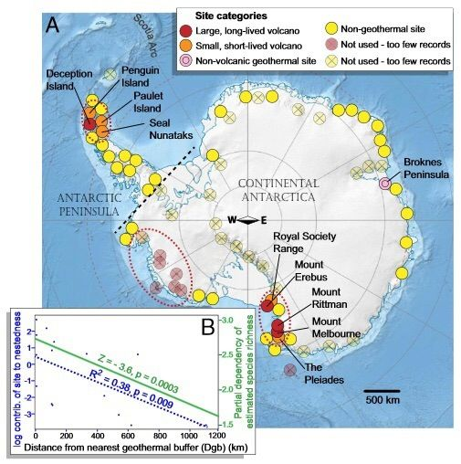 map of active and inactive volcanoes in antarctica