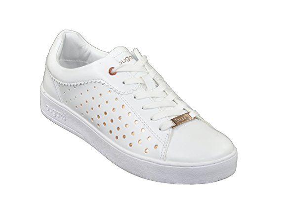 Bugatti Damen Schuh Sneakers in weißsilber oder WeißGold