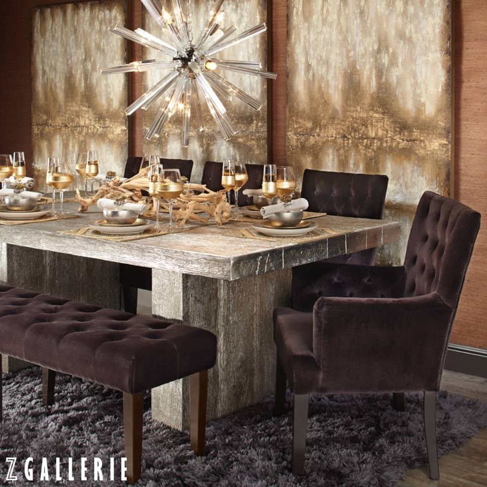 Z gallerie Timber dining table, Dining room inspiration
