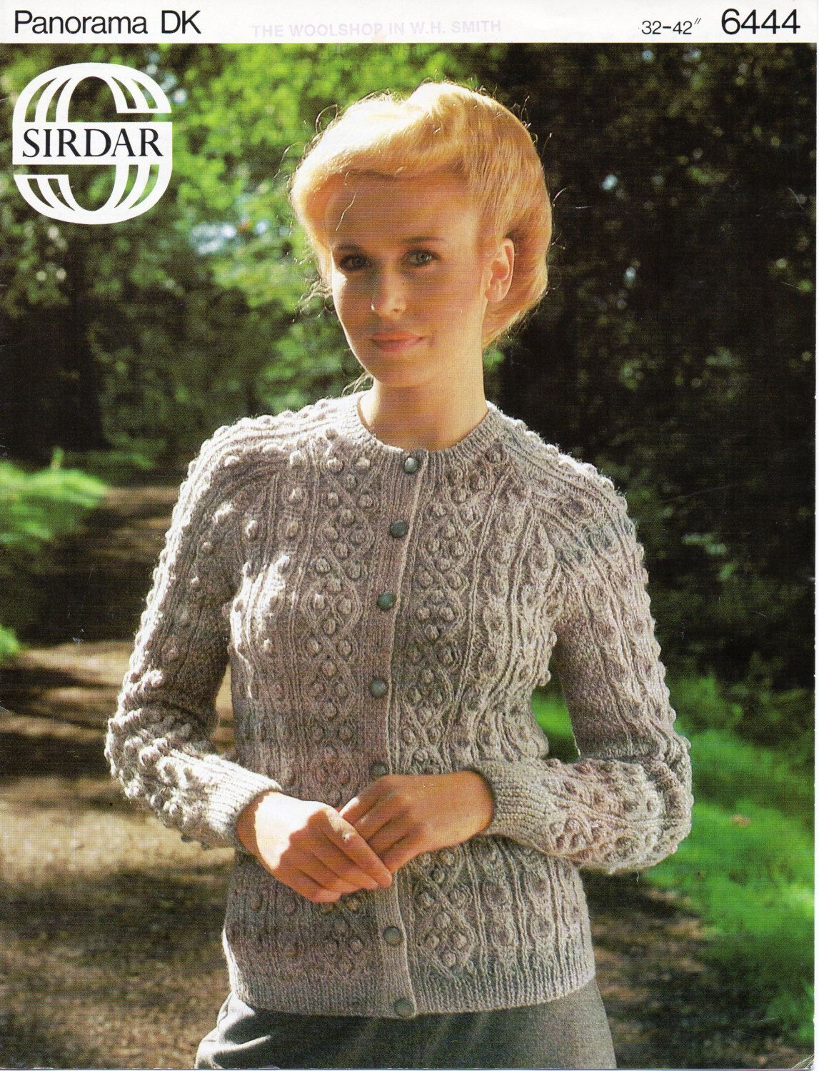 3436593f8 womens bobble stitch  amp  cable cardigan knitting pattern aran style jacket  32-42 inch