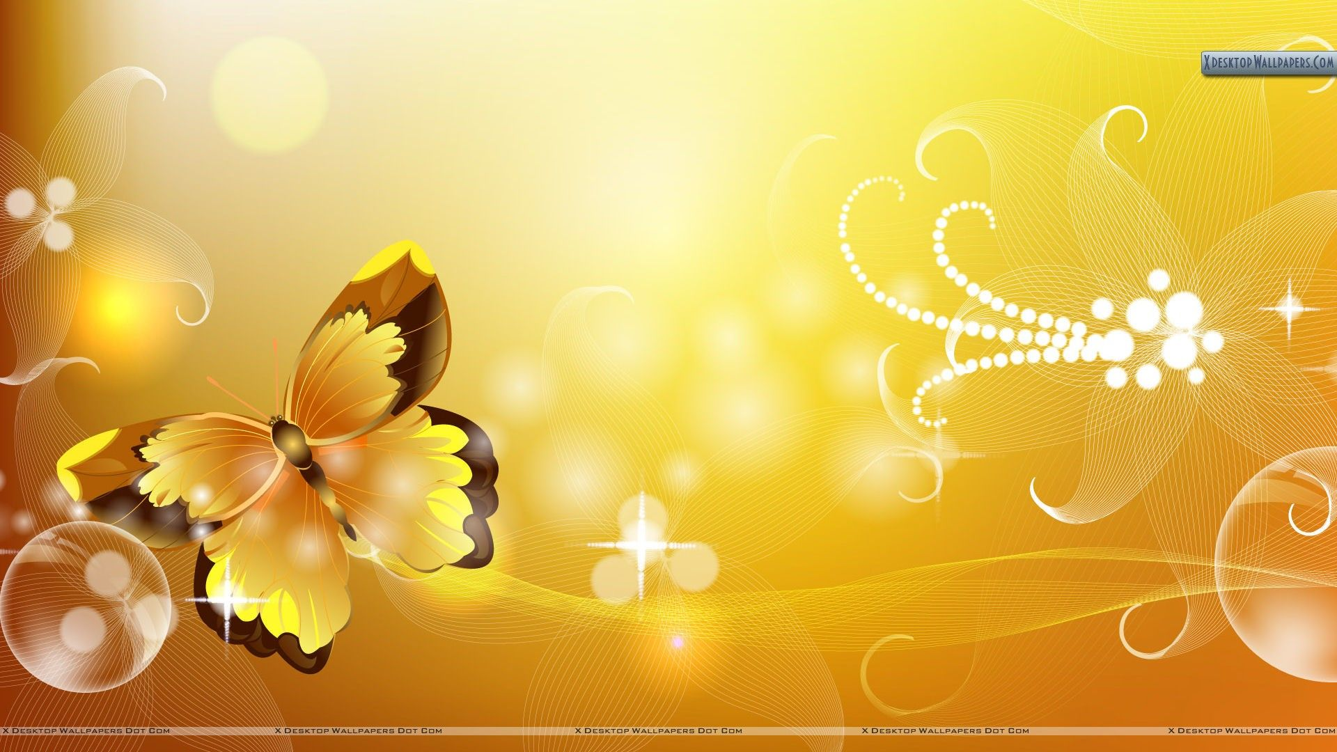 Yellow Butterfly Abstract Wallpaper Background Hd Wallpaper Butterfly Wallpaper Flower Wallpaper