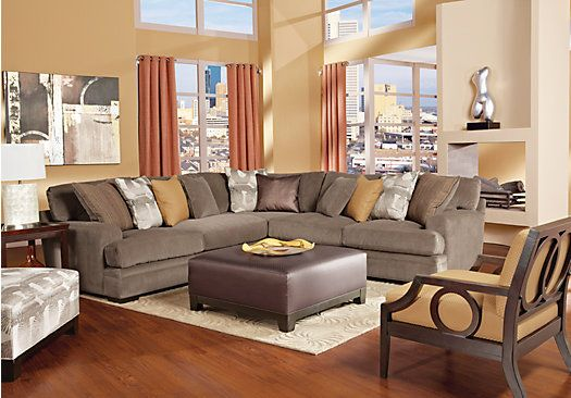 Cindy Crawford Home Fontaine 4 Pc Sectional Living Room