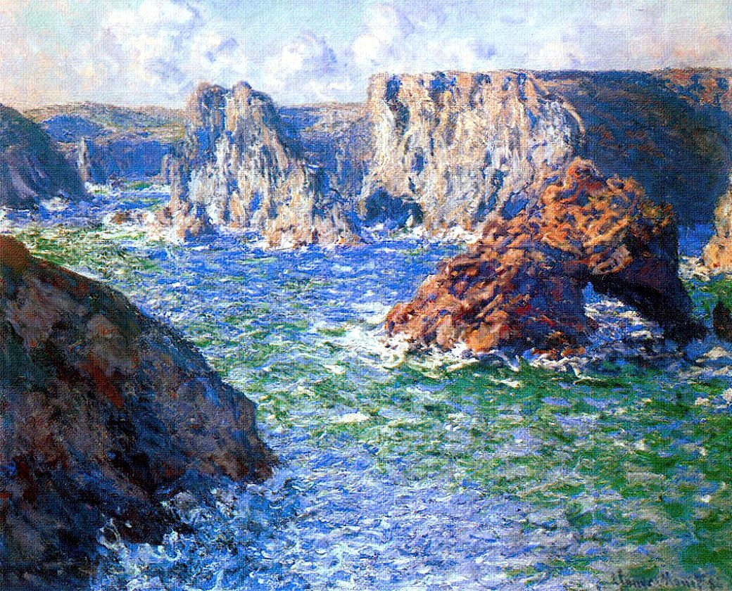 Claude Monet The Guibel Rock, Port-Domois 188 | Claude monet, Monet art,  Claude monet paintings